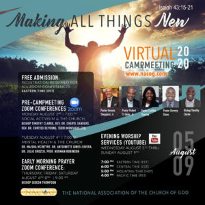 2020 NACOG Virtual Campmeeting Schedule / August 3 -9