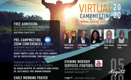 2020 NACOG Virtual Campmeeting Schedule / August 3 -9